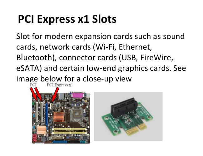 Pci Express X1 Slots